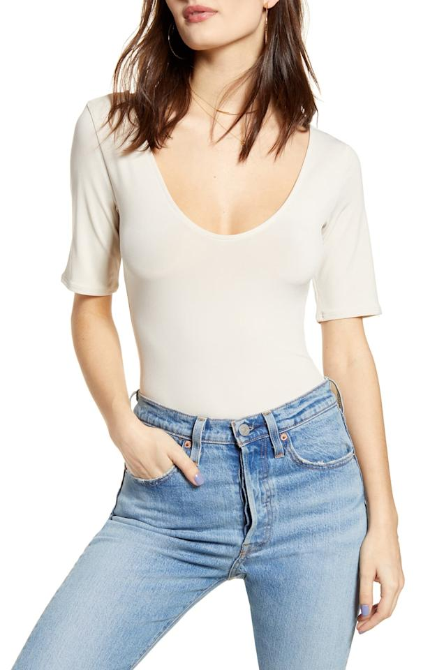 "$39, Nordstrom. <a href=""https://click.linksynergy.com/deeplink?id=3r4YdkDiq/o&mid=1237&u1=NordstromMemorialSale2&murl=https%3A%2F%2Fshop.nordstrom.com%2Fs%2Fleith-everyday-bodysuit%2F5342299%3Forigin%3Dcategory-personalizedsort%26breadcrumb%3DHome%252FSale%252FWomen%26color%3Dbeige%2520pumice"">Get it now!</a>"