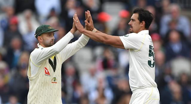 Starc then dismissed Stokes in a vastly improved performance (Photo by Stu Forster/Getty Images)