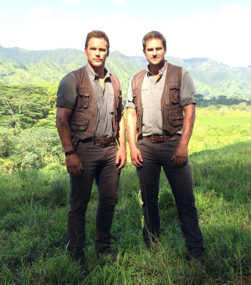 <p>Since Pratt is taken, maybe his double, Tony McFarr, is free to date? Both are spotted on location during filming for the 2015 megahit <i>Jurassic World</i>.</p><p><i>(Photo: Instagram)</i></p>