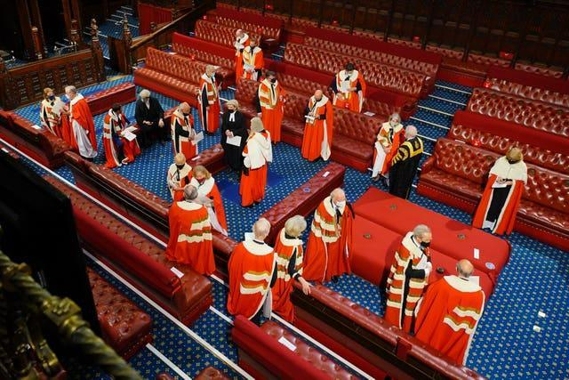 Fewer peers were in attendance for this year's Queen's Speech