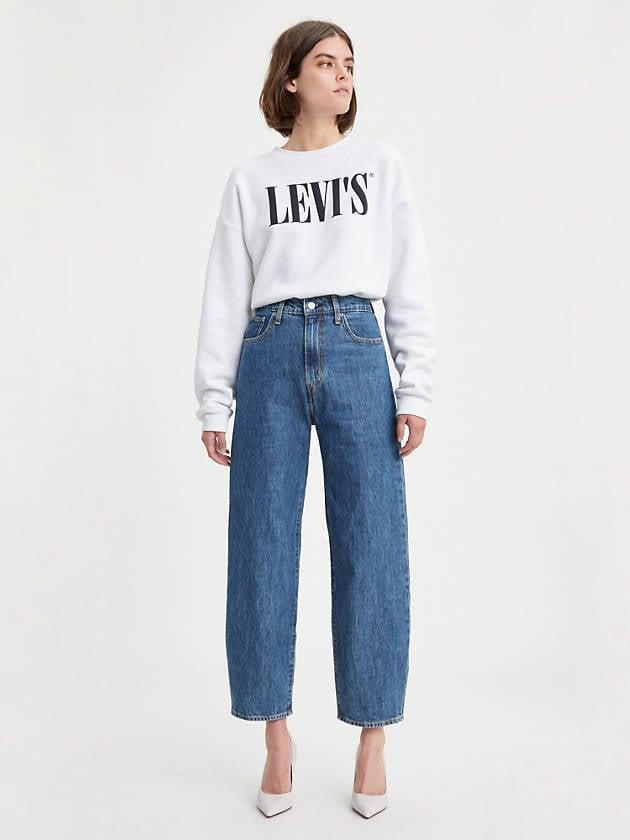 <p>Comfortable and flattering, <span>Levi's Balloon Leg Jeans</span> ($83, originally $98) are fitted at the waist with a dramatic curve at the hip.</p>