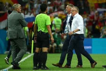 Soccer Football - World Cup - Group F - Germany vs Sweden - Fisht Stadium, Sochi, Russia - June 23, 2018 Sweden coach Janne Andersson looks dejected after the match REUTERS/Pilar Olivares