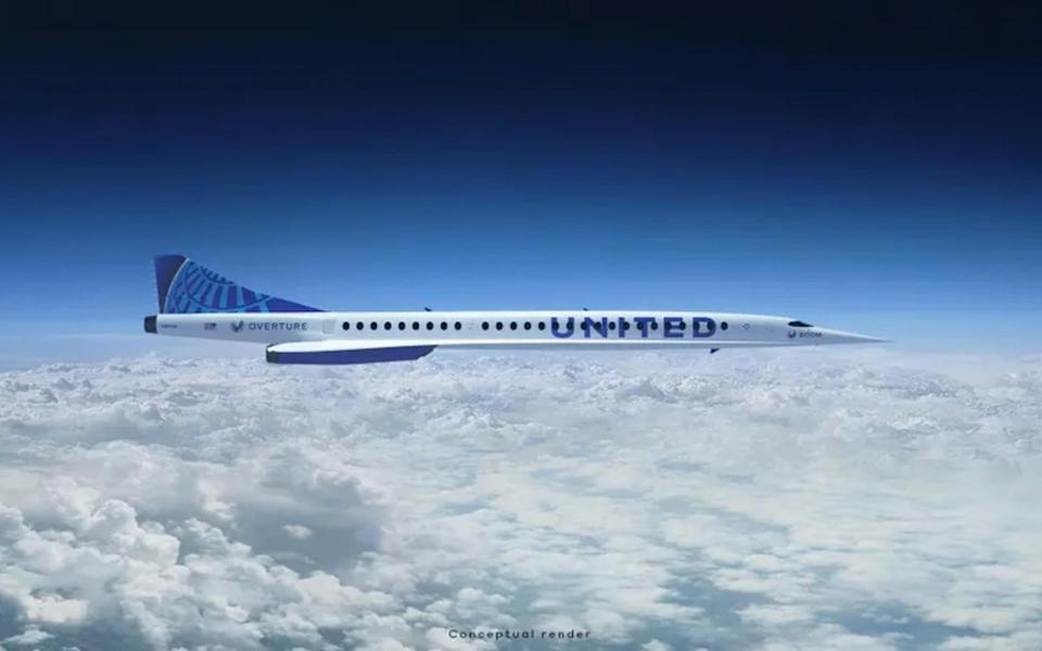 Boom Overture United Airlines