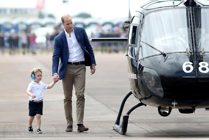 George seems to love anything to do with helicopters, so this was a great trip for him. (Getty Images)