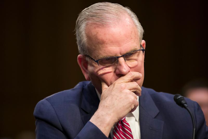 Federal Aviation Administration Acting Administrator Daniel Elwell appears before a Senate Transportation subcommittee on commercial airline safety, on Capitol Hill, Wednesday, March 27, 2019, in Washington. Two recent Boeing 737 MAX crashes, in Ethiopia and Indonesia, which killed nearly 350 people, have lead to the temporary grounding of models of the aircraft and to increased scrutiny of the FAA's delegation of a number of aspects of the certification process to the aircraft manufacturers themselves. (AP Photo/Alex Brandon)