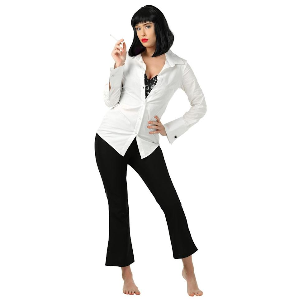 "<p>$55</p><p><a rel=""nofollow"" href=""https://www.halloweencostumes.com/adult-mia-wallace-pulp-fiction-costume.html"">SHOP NOW</a></p><p>This <em>Pulp Fiction </em>costume is the perfect opportunity to rock a sleek, devious wig.</p>"
