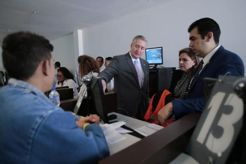 Guatemalan Interior Minister Degenhart is seen during the arrival of Honduran man Ardon in Guatemala City