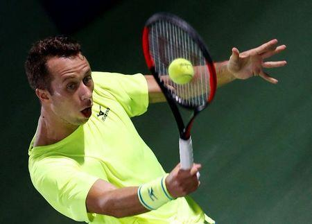 Tennis - Dubai Open - Men's Singles - Philipp Kohlschreiber of Germany v Andy Murray of Britain - Dubai, UAE - 02/03/2017 - Philipp Kohlschreiber in action. REUTERS/Ahmed Jadallah
