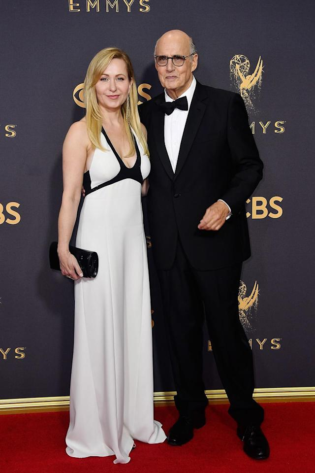 <p>Kasia Ostlun and Jeffrey Tambor attend the 69th Annual Primetime Emmy Awards on September 17, 2017. (Photo: Getty Images) </p>