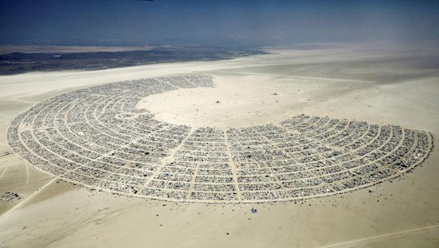 <p>Black Rock City, a gathering of approximately 70,000 people that is created annually for the Burning Man arts and music festival, is seen in the Black Rock Desert of Nevada, Sept.1, 2017. (Photo: Jim Bourg/Reuters) </p>