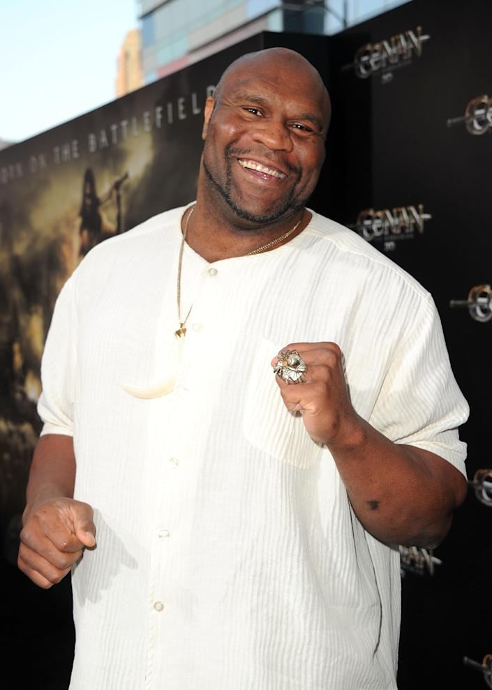 Bob Sapp pictured in Los Angeles on August 11, 2011 (AFP Photo/Alberto E. Rodriguez)