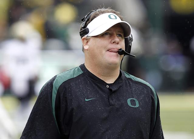 Would Chip Kelly consider taking the Florida job? Time will tell. (AP)