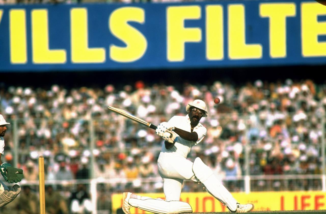 14 Dec 1983:  West Indies Captain Clive Lloyd in action during his century innings in the Fifth Test match against India at Eden Gardens in Calcutta, India. West Indies won the match by an innings and 46 runs.  \ Mandatory Credit: Adrian  Murrell/Allsport