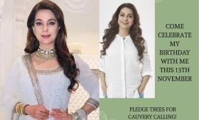 Juhi Chawla to celebrate her birthday with fans who pledge trees for a cause