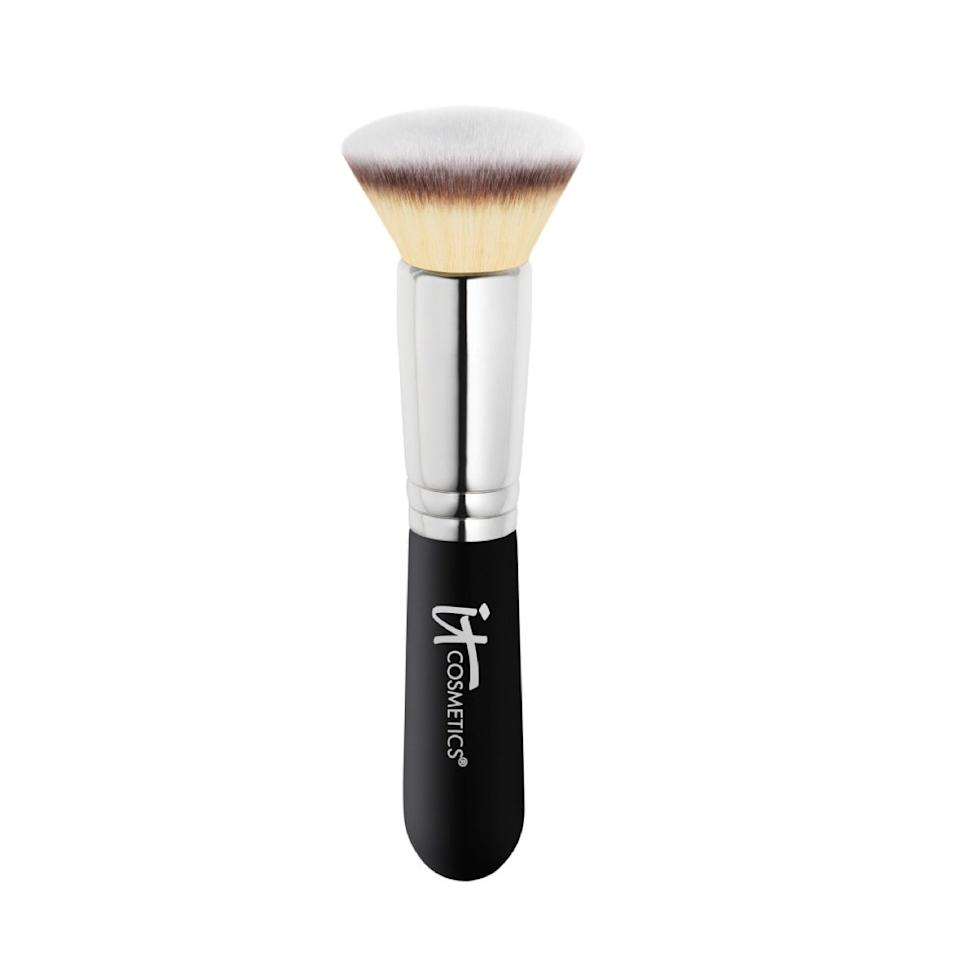 "$48, It Cosmetics Heavenly Luxe Flat Top Buffing Foundation Brush #6. <a href=""https://www.ulta.com/heavenly-luxe-flat-top-buffing-foundation-brush-6?productId=xlsImpprod5770299"">Get it now!</a>"