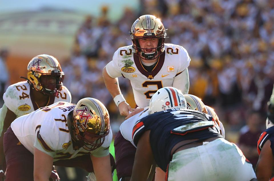 Minnesota Golden Gophers quarterback Tanner Morgan should helm one of the Big Ten's most potent passing attacks in 2020.