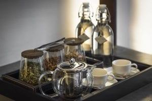Tea service at Jaya House
