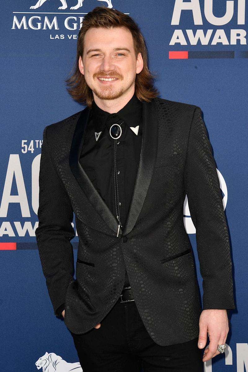 Morgan Wallen hit the red carpet at the Academy of Country Music Awards on April 7, 2019, in Las Vegas.