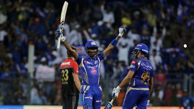 Mumbai Indians pulled off a well-timed chase to move back to the top of the IPL points table and eliminate RCB from play-off contention.