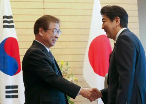 <p>Fearing diplomatic sidelines, Japan reportedly weighs Abe-Kim meet</p>