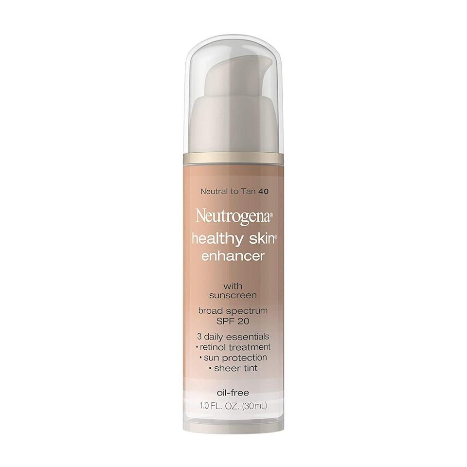 "<p><strong>Neutrogena</strong></p><p>amazon.com</p><p><strong>$9.99</strong></p><p><a href=""https://www.amazon.com/dp/B001ET70EK?tag=syn-yahoo-20&ascsubtag=%5Bartid%7C10072.g.33431155%5Bsrc%7Cyahoo-us"" rel=""nofollow noopener"" target=""_blank"" data-ylk=""slk:SHOP NOW"" class=""link rapid-noclick-resp"">SHOP NOW</a></p><p>Because it contains retinol—the most powerful over-the-counter anti-aging ingredient—this tinted moisturizer and sunscreen combo is great for older skin, says Jaliman. It also contains plenty of vitamins to help soften fine lines and wrinkles. </p>"