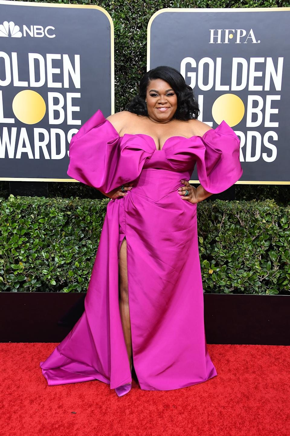 "<h1 class=""title"">Da'Vine Joy Randolph in Christian Siriano, Stuart Weitzman shoes, and Lark & Berry jewelry</h1><cite class=""credit"">Photo: Getty Images</cite>"
