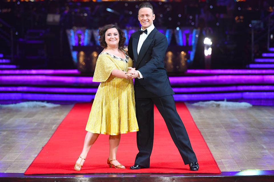 Susan Calman was paired with professional danger Kevin Clifton in the 2017 series of Strictly Come Dancing (Joe Giddens/PA)