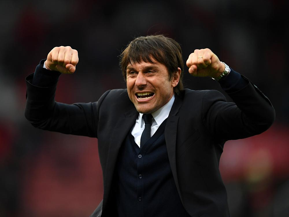Antonio Conte has celebrated his side's victories wildly at times: Getty