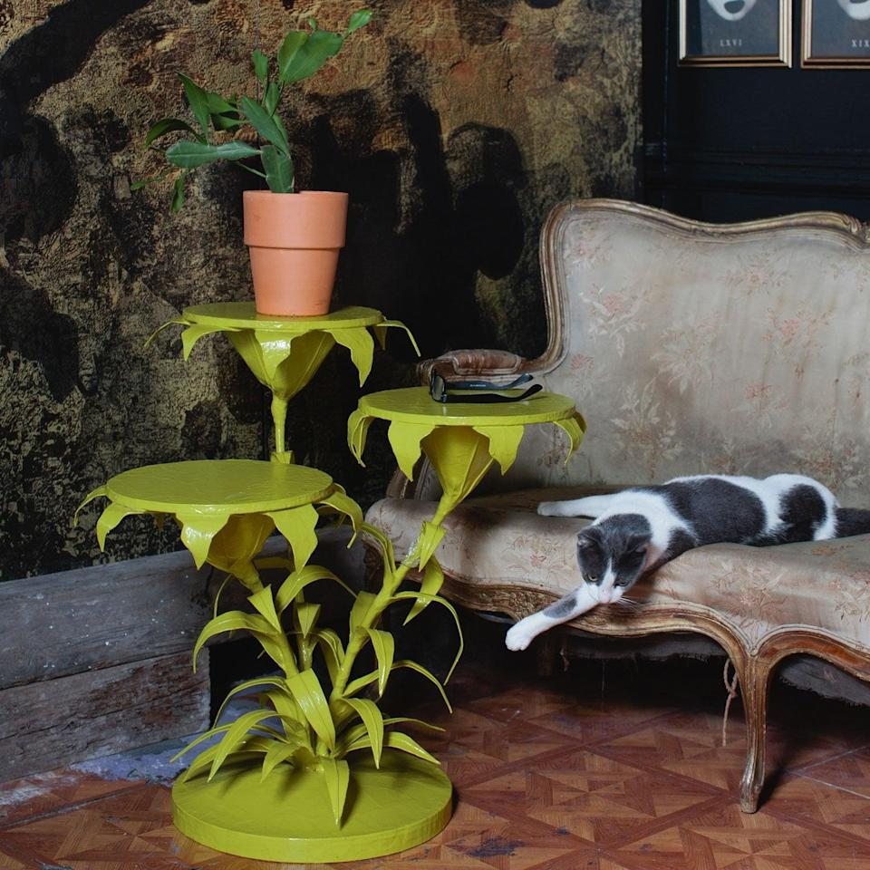 <p>Tiana fans will love the lily-pad shape and gorgeous green color of this <span>Stray Dog Designs Lily Cluster Table</span> ($1,695). If you're going in on a gift with a group, this piece of furniture could be worth the splurge!</p>