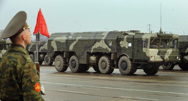 Russia deployed Iskander missiles for exercises in its Kaliningrad exclave in 2016, rattling NATO (AFP Photo/ALEXANDER NEMENOV)