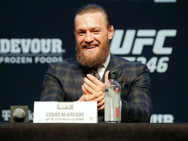 Conor McGregor during his press conference for UFC 246: AP