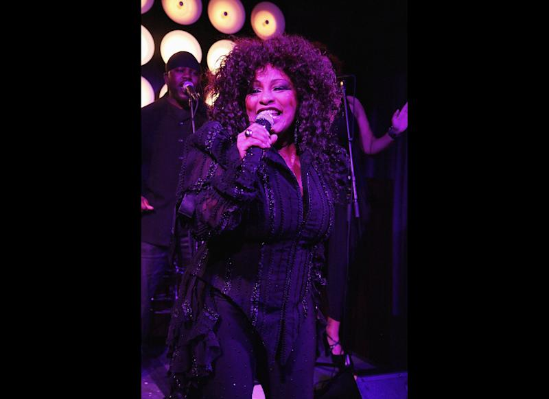 Pictured Above: Chaka Khan NEW YORK, NY: Chaka Khan performs at the Hugo Boss afterparty for Fashion's Night Out on September 8, 2011 at the PH-D Rooftop Lounge at Dream Downtown in New York City. (Photo by David Surowiecki/Getty Images for Hugo Boss)