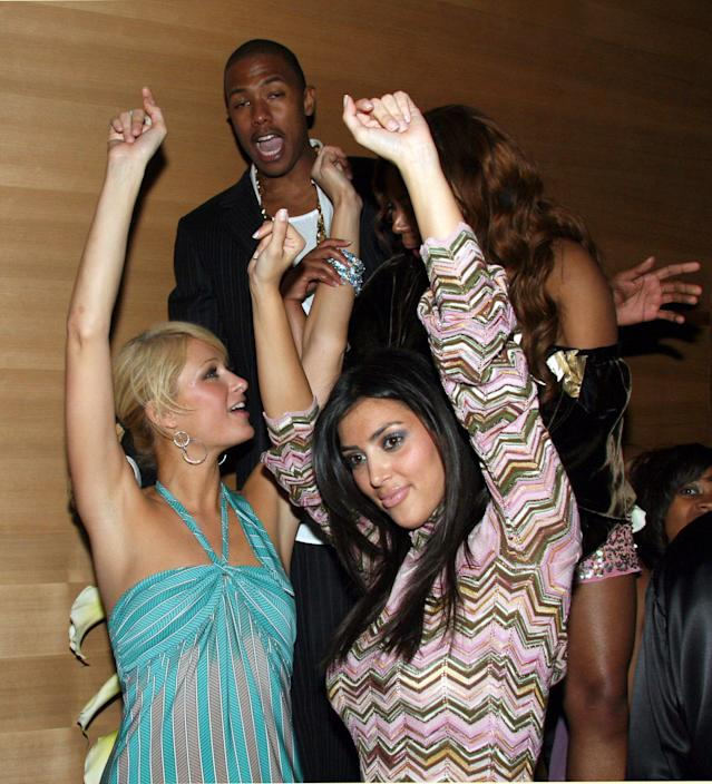 The glory days: Paris and Kim dance together in 2006. (Photo: Johnny Nunez/WireImage)