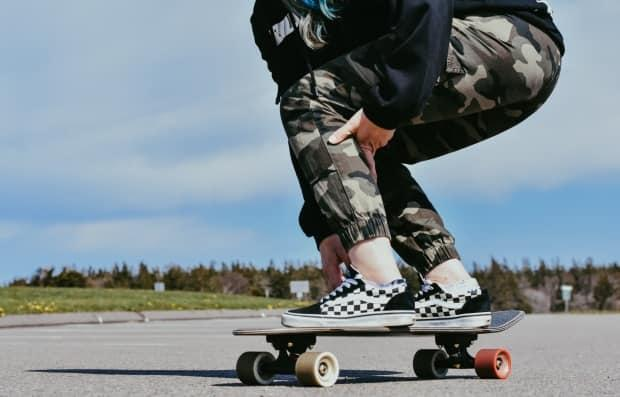 With COVID-19 putting a stop to a lot of team sports, more people are getting into solo activities like skateboarding, says Jenna Greely, co-owner of Town City. (Tony Davis/CBC - image credit)