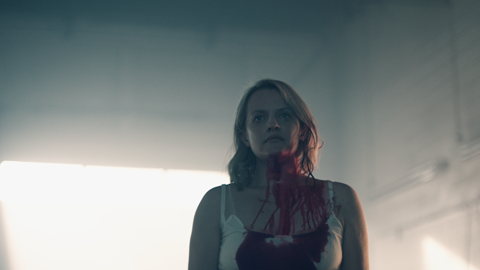 """<p>Speaking of prosthetics, remember when Offred lobbed off her ear in the <a href=""""https://www.popsugar.com/entertainment/Handmaid-Tale-Season-2-Episode-1-Recap-44781496"""" class=""""link rapid-noclick-resp"""" rel=""""nofollow noopener"""" target=""""_blank"""" data-ylk=""""slk:first episode of season two"""">first episode of season two</a>? How could you forget - and that's why the makeup team had to recreate it over and over again. """"That was obviously a fake ear that the prosthetics team put together,"""" LeBlanc said. """"It just shows a little cut and texture if the camera ever caught her ear, so if it was ever going to be a tight shot of the face, we had to put that piece on. There was a lot of keeping track of what scenes are coming up.""""</p>"""