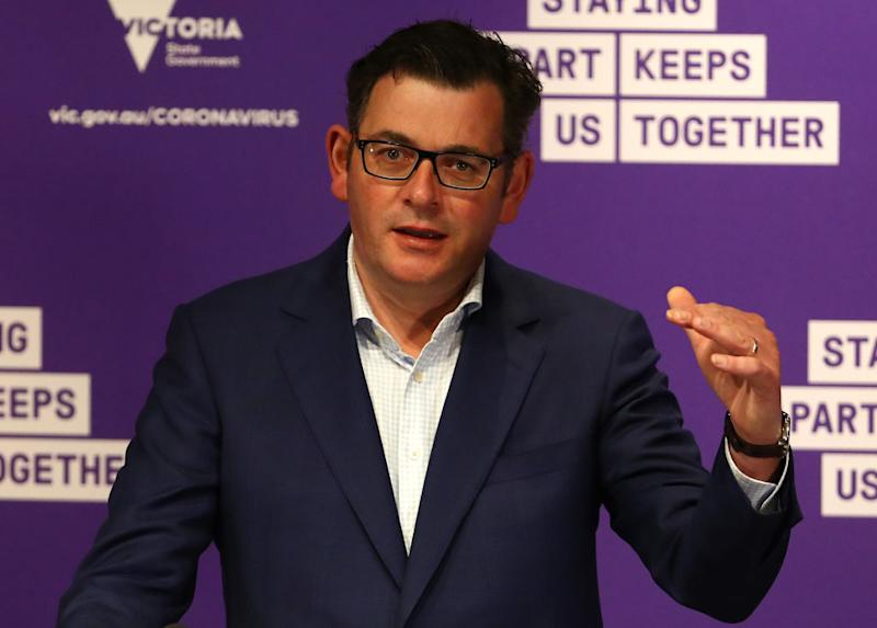 All eyes are now on Dan Andrews as he finalises Melbourne's next step on the roadmap. Source: Getty