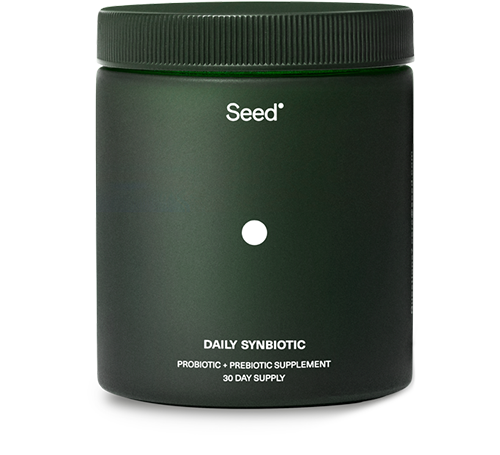 """<h3>Seed Daily Synbiotic</h3><br>""""I rave about this synbiotic (a probiotic + prebiotic supplement) to anyone who will listen. A few of my friends are also obsessed. Every so often, one will randomly text me just to say that they're still loving Seed — that's how good it is! Direct quote: 'Seed is the best. That is all.' It helps with... <a href=""""https://www.refinery29.com/en-us/2019/08/8323532/butt-con-tushy-anal-sex"""" rel=""""nofollow noopener"""" target=""""_blank"""" data-ylk=""""slk:digestion"""" class=""""link rapid-noclick-resp"""">digestion</a> (IYKYK)."""" <em>— MZ</em><br><br><strong>Seed</strong> Daily Synbiotic, $, available at <a href=""""https://go.skimresources.com/?id=30283X879131&url=https%3A%2F%2Fshop.seed.com%2Fproducts%2Fdaily-synbiotic"""" rel=""""nofollow noopener"""" target=""""_blank"""" data-ylk=""""slk:Seed"""" class=""""link rapid-noclick-resp"""">Seed</a>"""