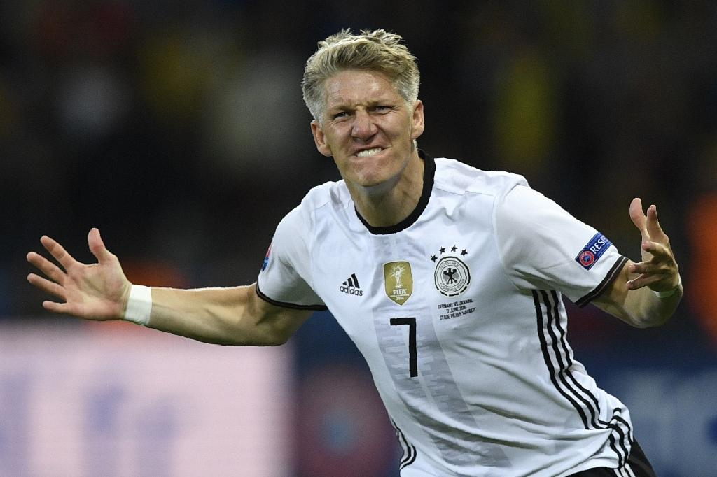 Bastian Schweinsteiger will appear in a Germany jersey for the 121st and final time in the match against Finland in Moenchengladbach (AFP Photo/Martin Bureau)