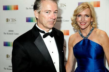 Senator Rand Paul and his wife Kelley Paul arrive for the Kennedy Center Honors in Washington, U.S., December 3, 2017. REUTERS/Joshua Roberts
