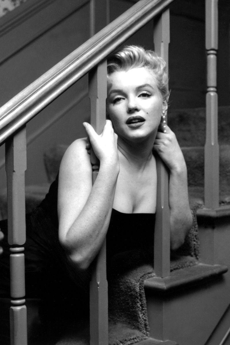 <p>The actress hosts a press party for reporters and photographers exclusively to get publicity in her Los Angeles home on March 3, shortly after legally changing her name to Marilyn Monroe — though she had been going by it for years. </p>