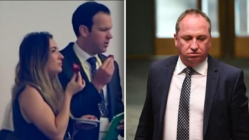 It's been reported Vikki Campion was given a high-paying role as a senior adviser working on digital and social media for Resources Minister Matt Canavan. Source: 7 News/AAP