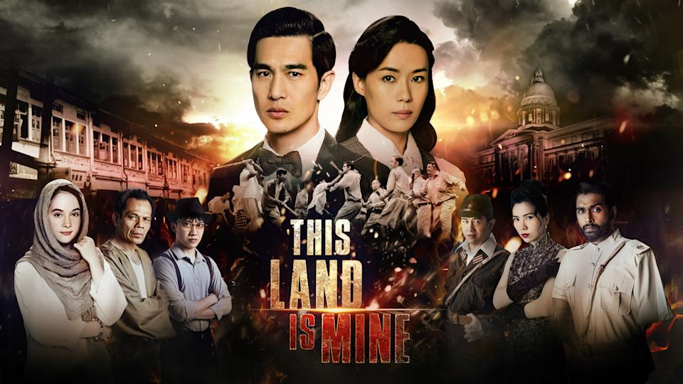 Historical drama, This Land Is Mine, stars Pierre Png and Rebecca Lim. (Image: Mediacorp)