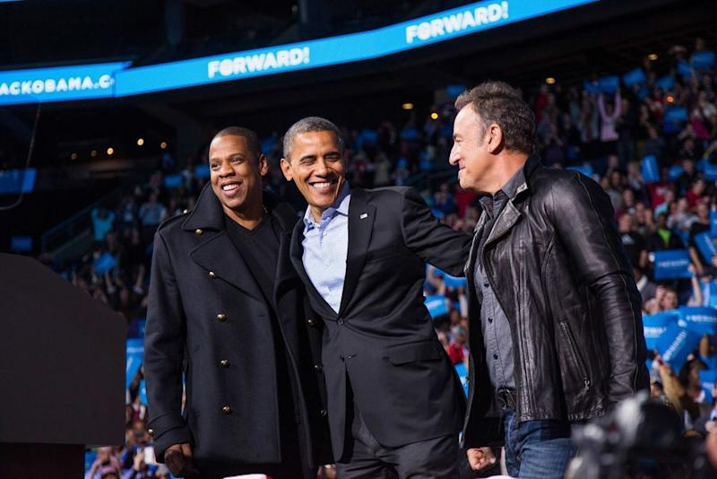 Barack Obama with Jay-Z and Bruce Springsteen