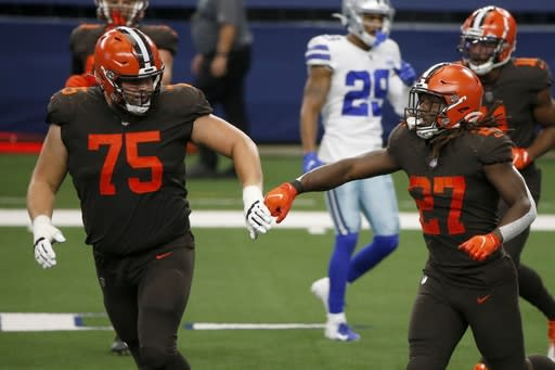 Backup plan: Hunt set to carry load for Browns without Chubb