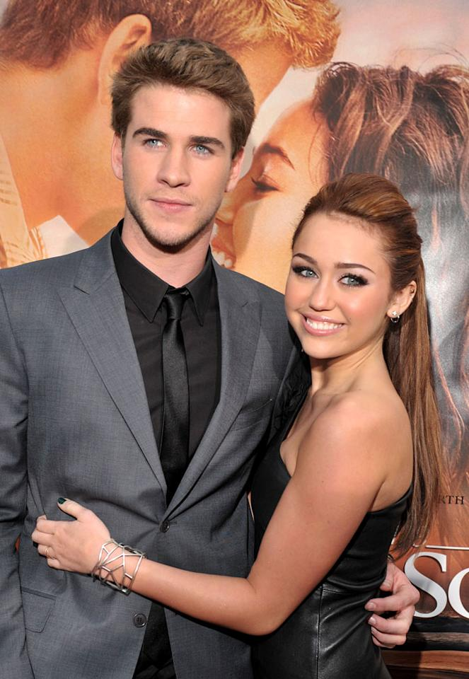 "In a piece titled, ""Miley Wedding Shocker,"" the <i>National Enquirer</i> reports that ""Miley Cyrus is not only back together with boyfriend Liam Hemsworth, [but] they're headed to the altar."" And the magazine notes, Miley's dad, Billy Ray Cyrus, ""is all for the wedding ... once she turns 18,"" which is only a month away. For details about the when and where of Miley's big day, see what her rep tells <a href=""http://www.gossipcop.com/miley-cyrus-liam-hemsworth-marrying-marriage-wedding-tying-knot/"" target=""new"">Gossip Cop</a>. Lester Cohen/<a href=""http://www.wireimage.com"" target=""new"">WireImage.com</a> - March 25, 2010"