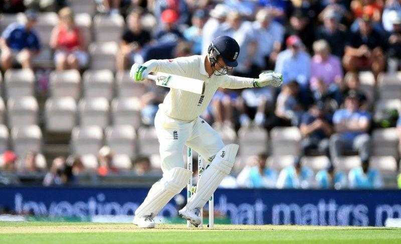 Keaton Jennings was trapped by Bumrah in comical fashion.