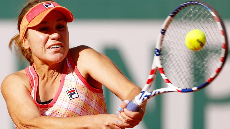 Seen here, Sofia Kenin in action against Danielle Collins at the French Open.