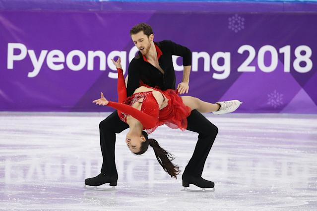 <p><strong>THE BAD</strong><br>Wardrobe Malfunctions:<br>South Korean skater Yura Min almost ended up topless while dancing with Alexander Gamelin at the PyeongChang Games. (Getty images) </p>