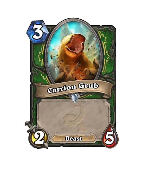 <p>The stats here aren't terrible for 3 mana, but in a meta with tons of other options for the 3-drop slot, Carrion Grub will likely only be useful in Arena. And even then, there are better options.</p>