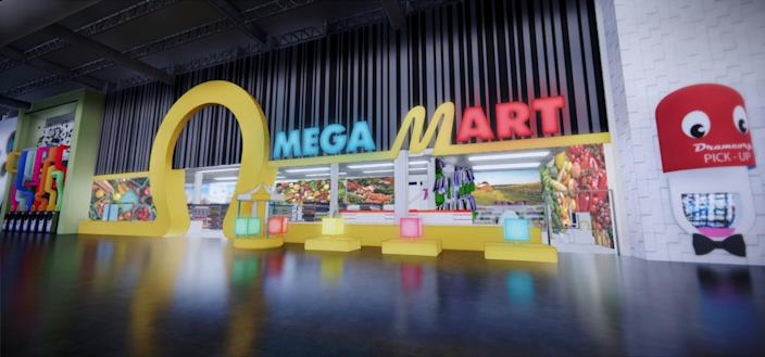 """Inside the Meow Wolf Las Vegas experience, Omega Mart is a grocery store experience that can transport you to other realms. <span class=""""copyright"""">(Meow Wolf)</span>"""